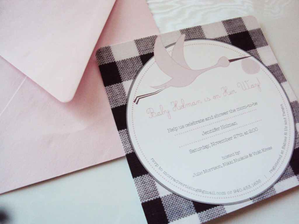 dallas stationery, dallas invitations, dallas baby shower invites, baby girl shower invitations, doodle dog