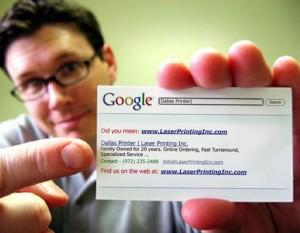 SEO SEM PPC idea for a business card