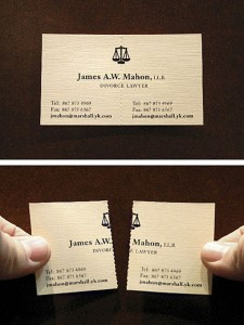 divorse lawyer business card dallas