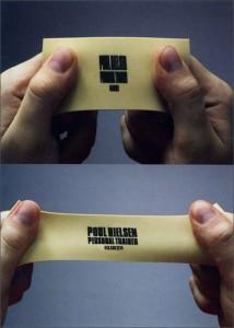 personal trainer business card design dallas