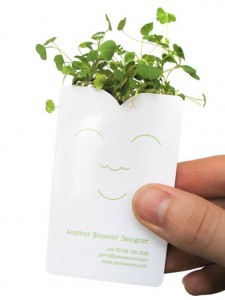 green, florist, lanscaping business card design
