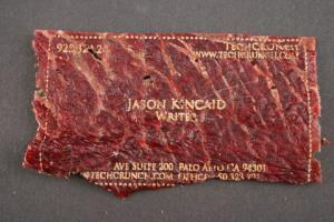 beef jerky card