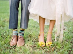 yellow wedding shoes striped yellow wedding socks