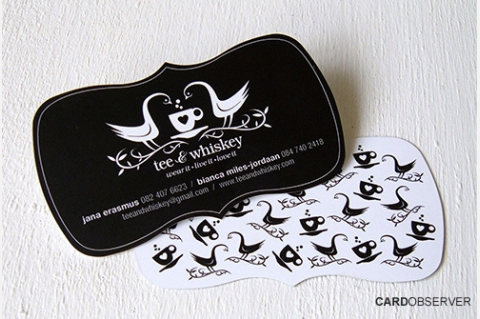 Custom Die Cut Business Cards - Doodle Dog Creative