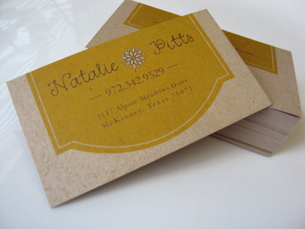 Kraft Paper Business Cards for Natalie Pitts photography