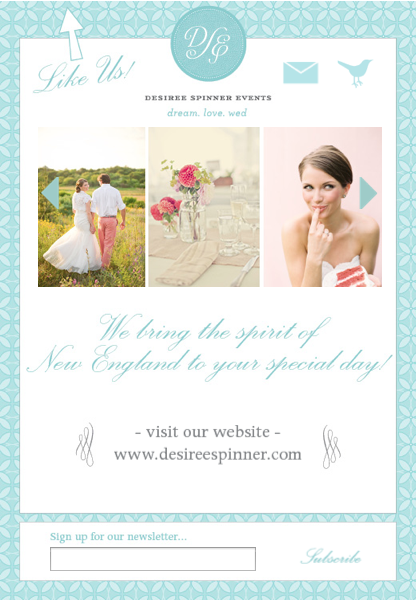 custom facebook landing page design for wedding planner