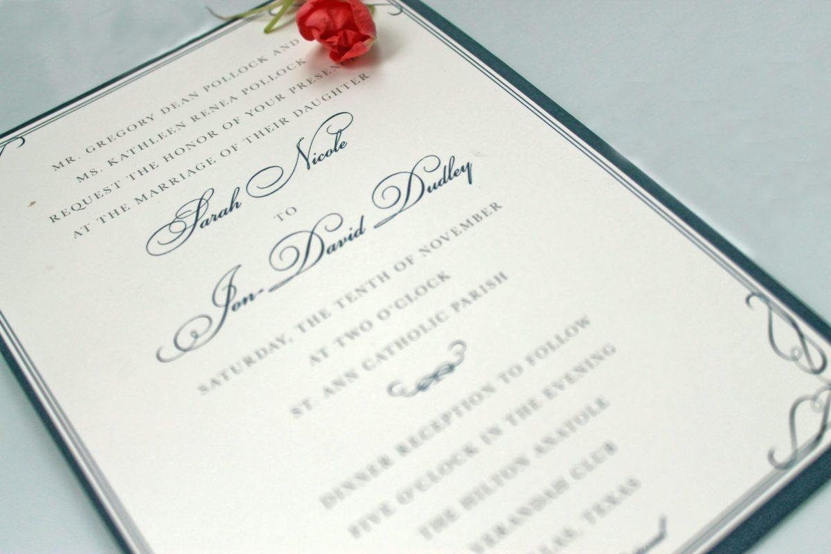 classic wedding invitation - doodle dog creative, Wedding invitations