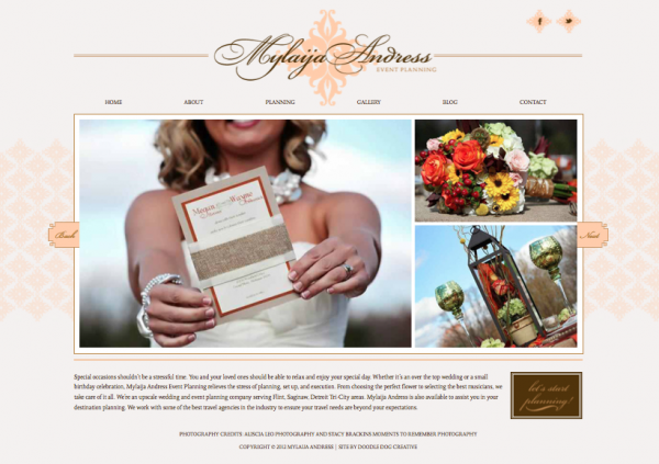 New brand and website for michigan event planner doodle Planner websites