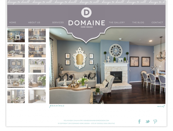 Chic stylish recently rebranded domaine home design for Interior design sites