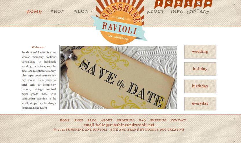 Stationery Web Design Rustic Website Online Boutique