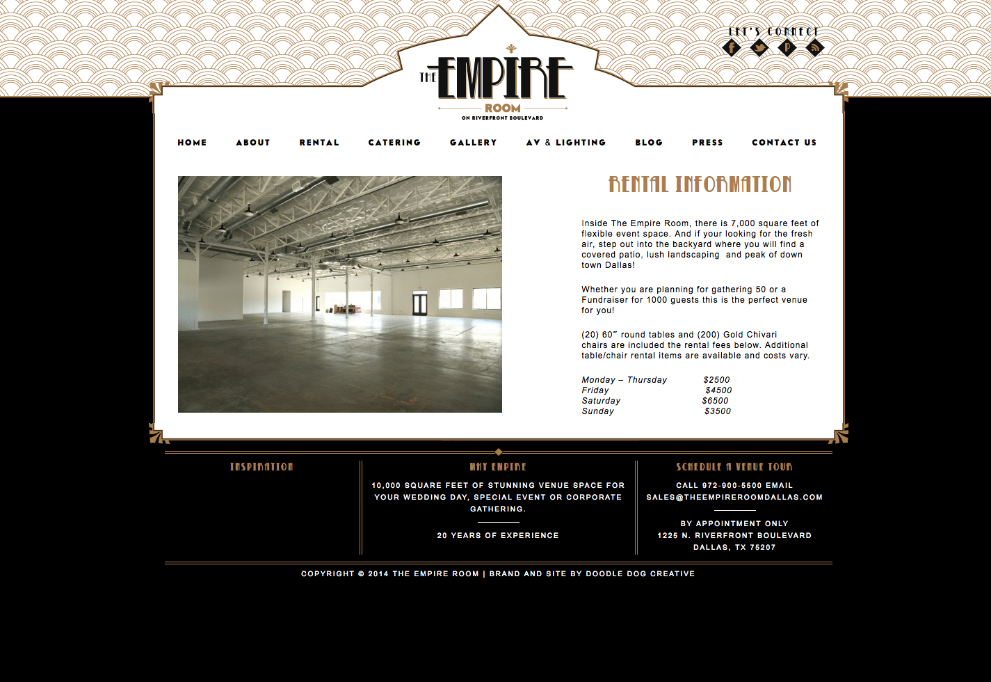 The empire room dallas goes gatsby doodle dog creative for Site deco