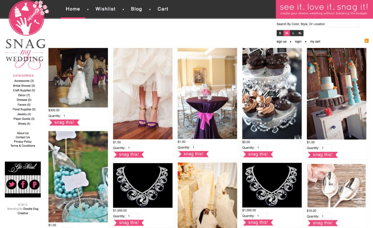 Hair Style Websites: We Created A Pinterest Style Website For Snag My Wedding