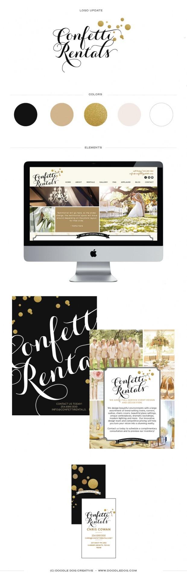 black and gold brand identity, gold glitter brand, wedding business brand, custom website design in wordpress