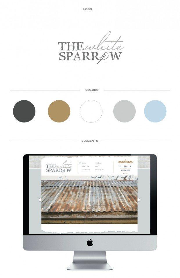 chic brand identity, rustic brand identity, website design for wedding venue, custom wordpress site design,