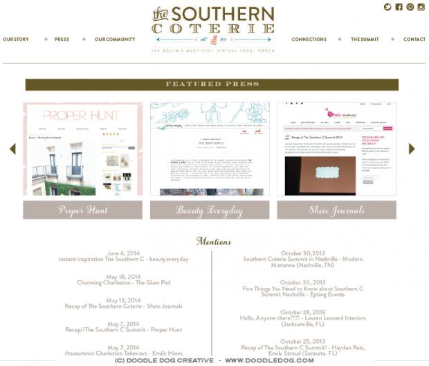 wordpress_social_network, custom site design, entreprenuer website, doodle dog, site design