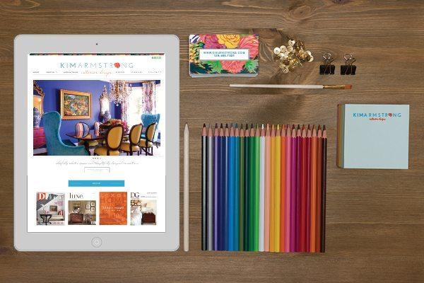 brand identity and website for interior designer