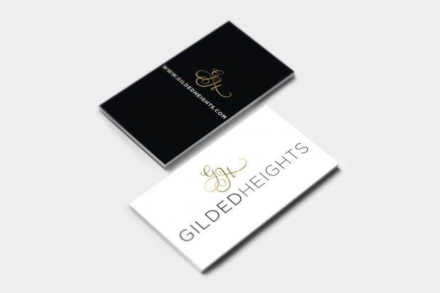 Gilded Heights Biz Card Mockup