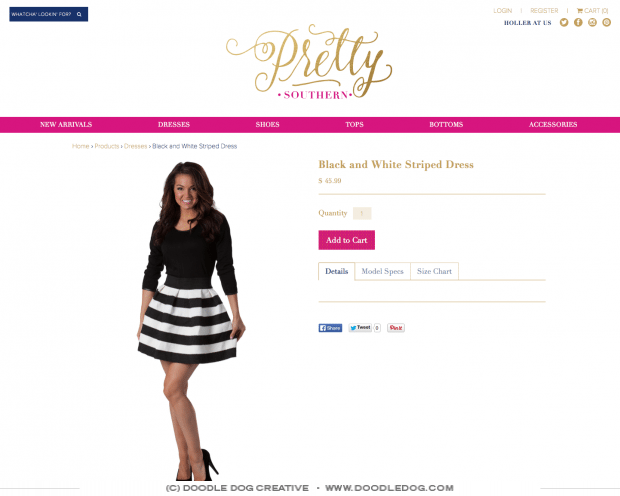 ecommerce website design for clothing boutique