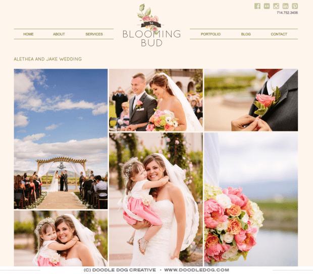 logo for florist, modern florist logo design, website for florist, graphic designer wedding industry