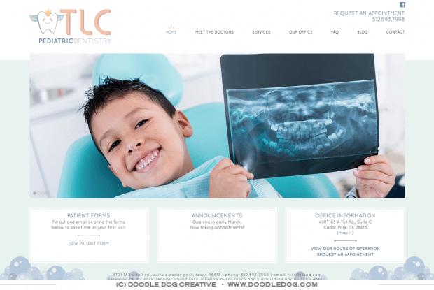 modern, clean, fresh, dentist website, pediatric dentist