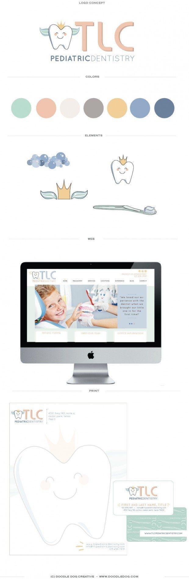 modern dentist, clean, fresh, dentist brand