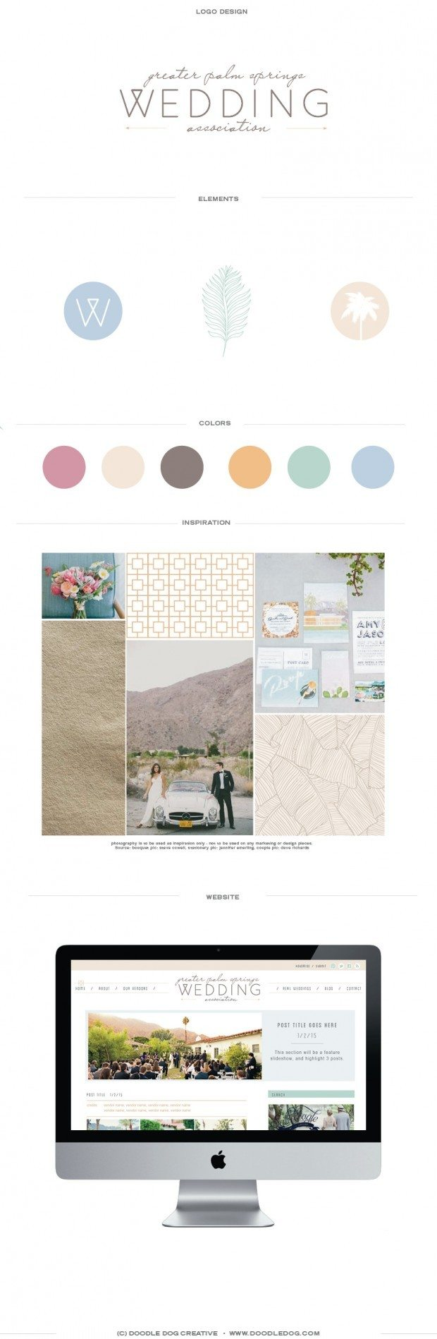 branding, webdesign, wedding industry, wedding association, doodle dog