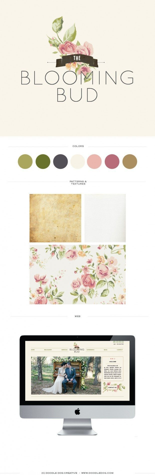 logo for florist, modern florist logo design, brand identity for florist, graphic designer wedding industry