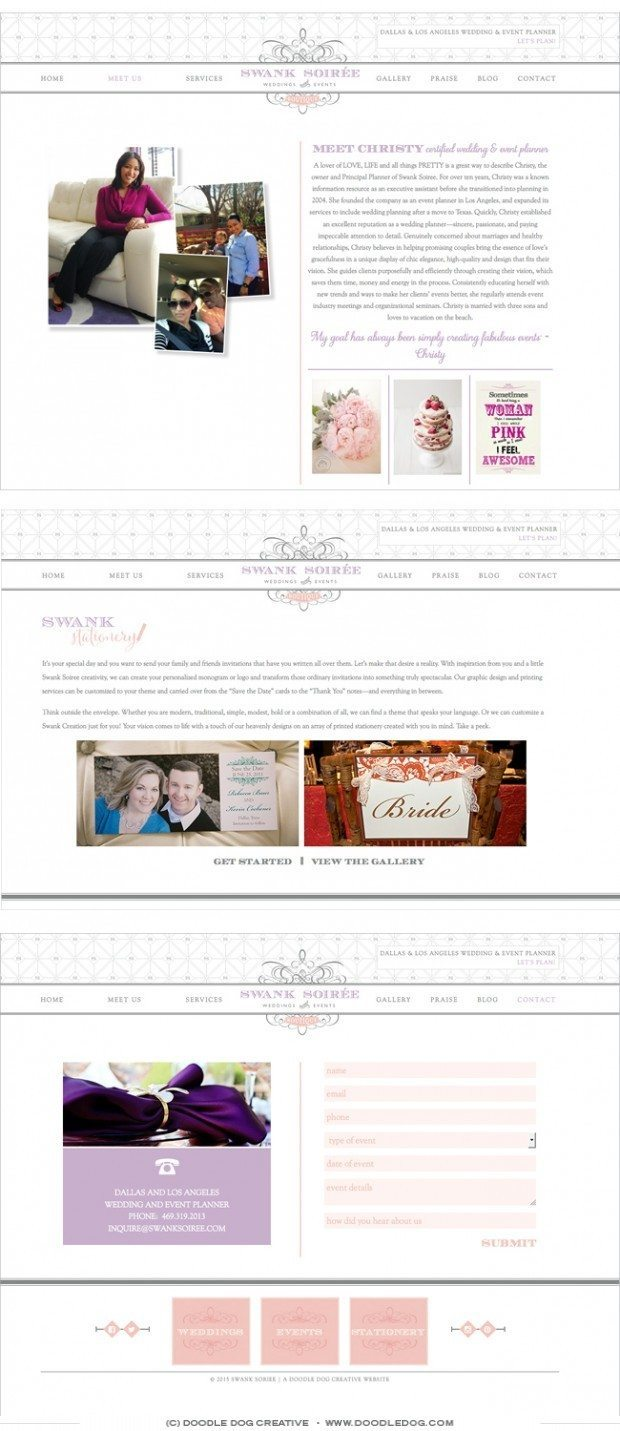 wedding planner website ideas, web designer for wedding planner