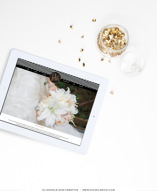 responsive website design for wedding professional