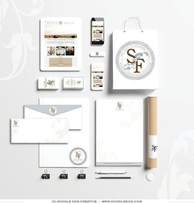 classic brand identity, branding agency, wedding venue branding