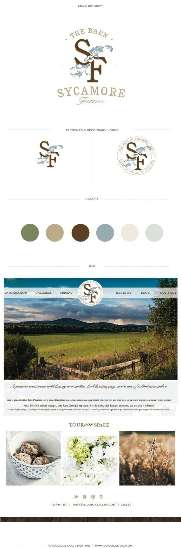 brand board, brand identity, wedding venue, graphic design