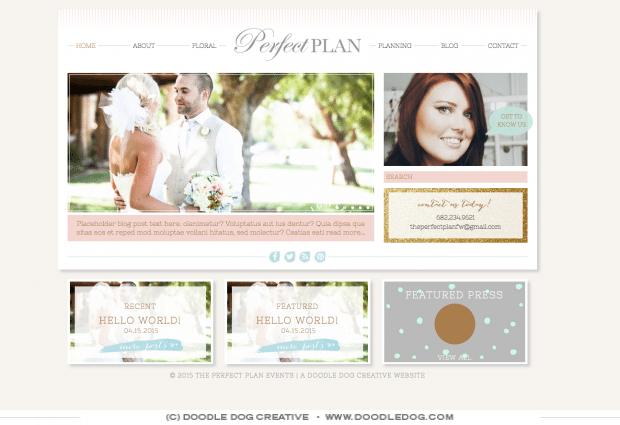 wedding planner website pretty website design trendy website design dallas web designer
