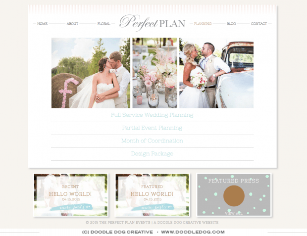 The Perfect Plan's Perfect New Wedding Planner Website - Doodle ...