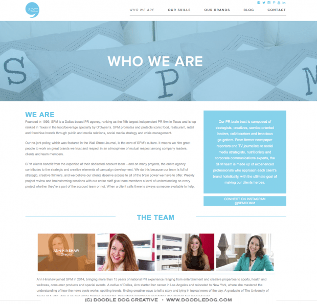 Pr company website, Dallas PR firm, Website design for PR company, spm communications