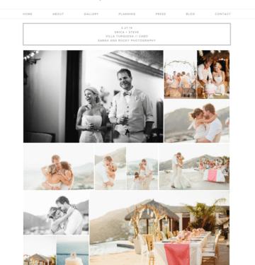 responsive website for wedding planner
