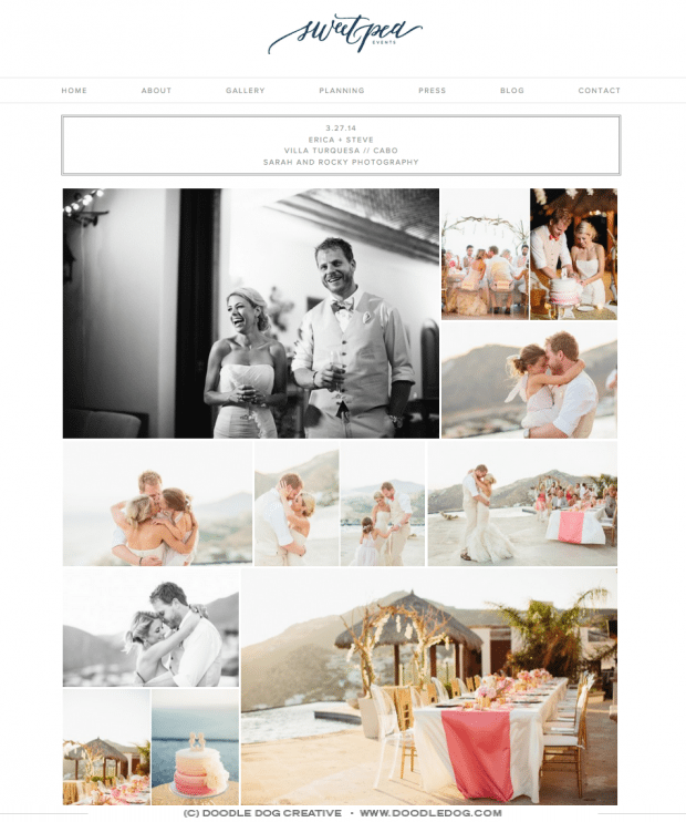 responsive website for wedding planner