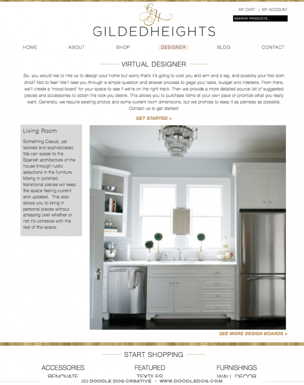 website design for interior designer, web designer dallas