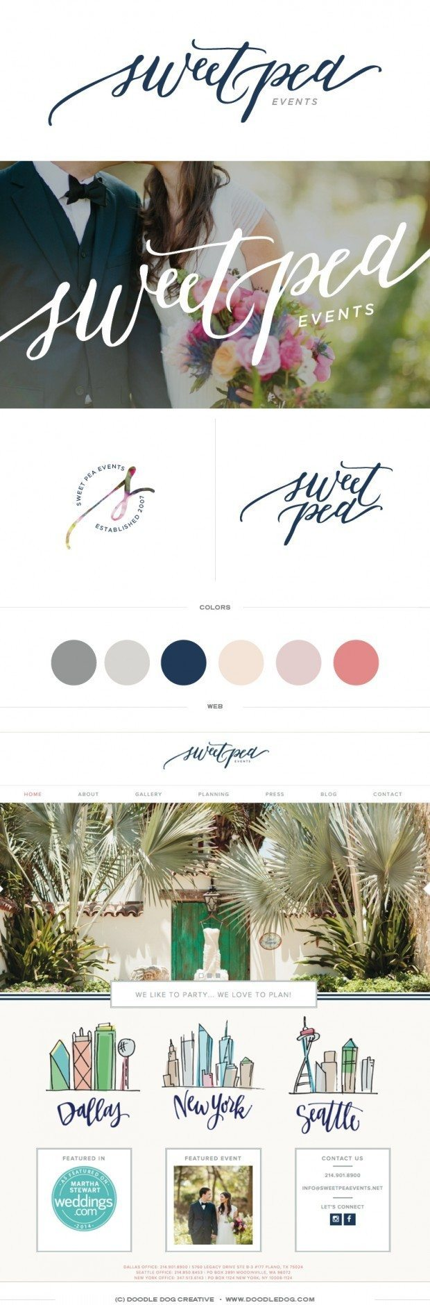 brand board wedding planner