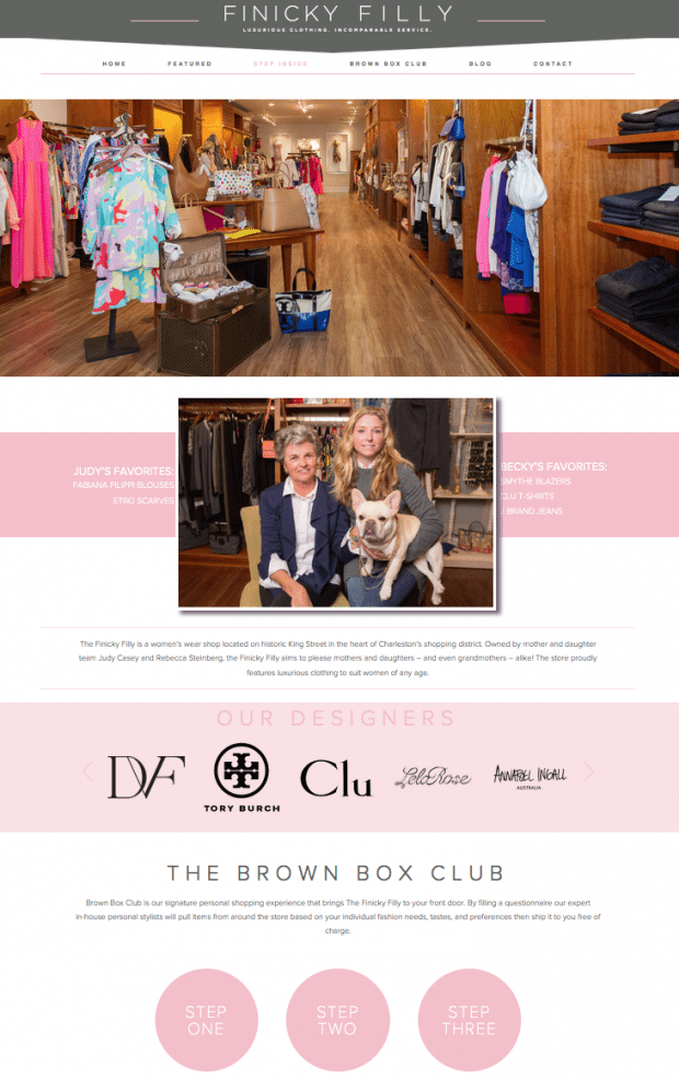 charleston woman's boutique website