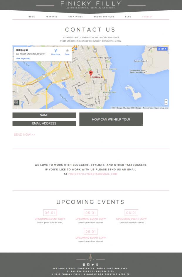 website design for luxury womans brand