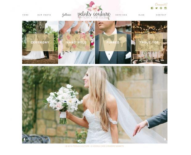 modern florist website
