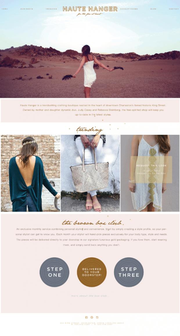 website design for clothing boutique, responsive wordpress website designer