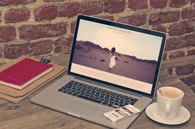 clothing boutique website design
