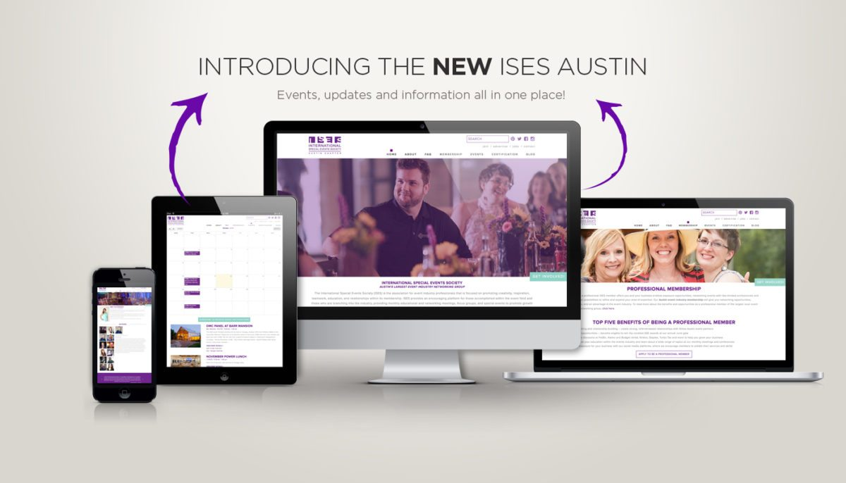 Ises austin website design, responsive, new site, wordpress