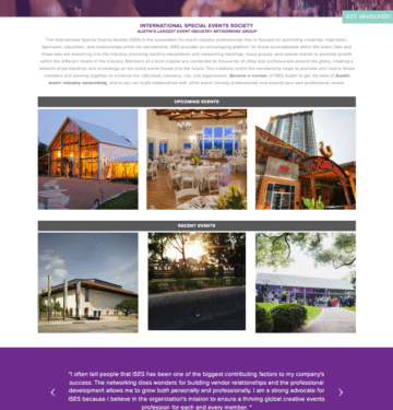 ISES austin website