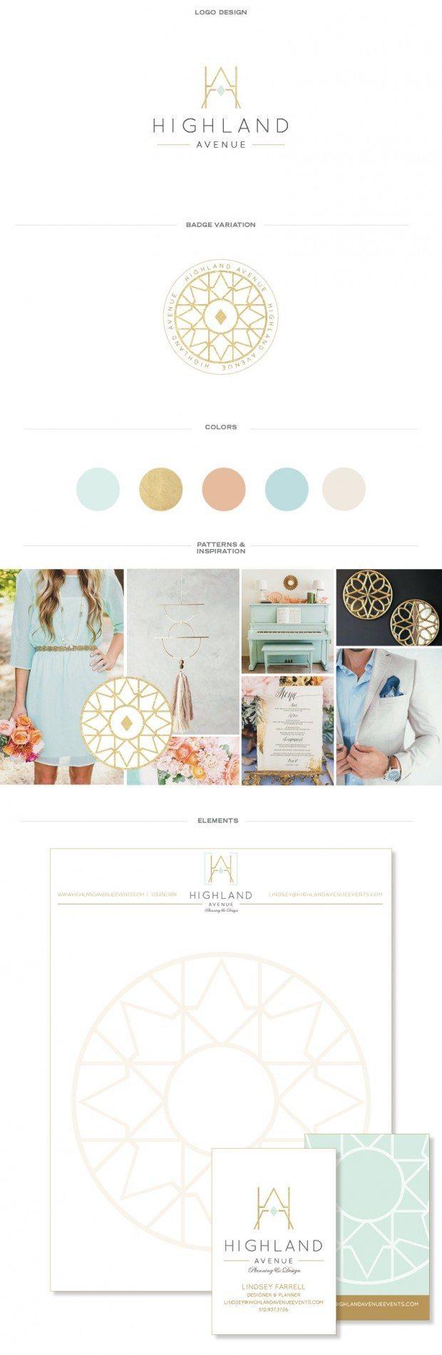 brand board, gold foil, brand design, doodle dog, wedding planner, monogram