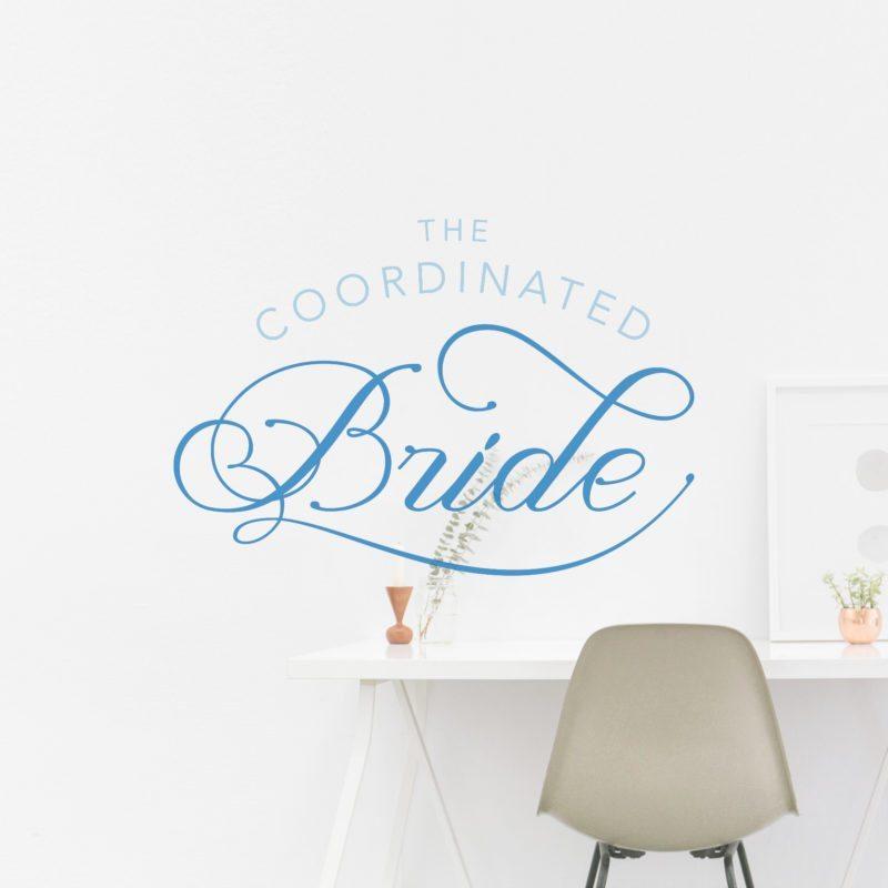 Custom Blog Logo for The Coordinated Bride | Doodle Dog Creative