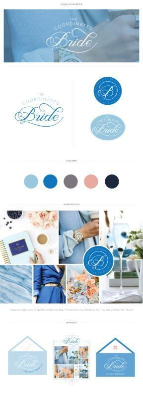 Custom Blog Logo for The Coordinated Bride | Doodle Dog Creative