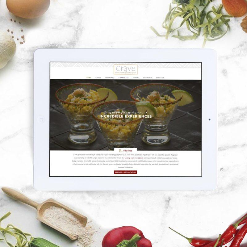website design for catering company, wordpress, austin, dallas, texas