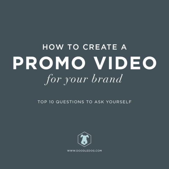 Custom Branding: Promo Video Tips | Doodle Dog Creative